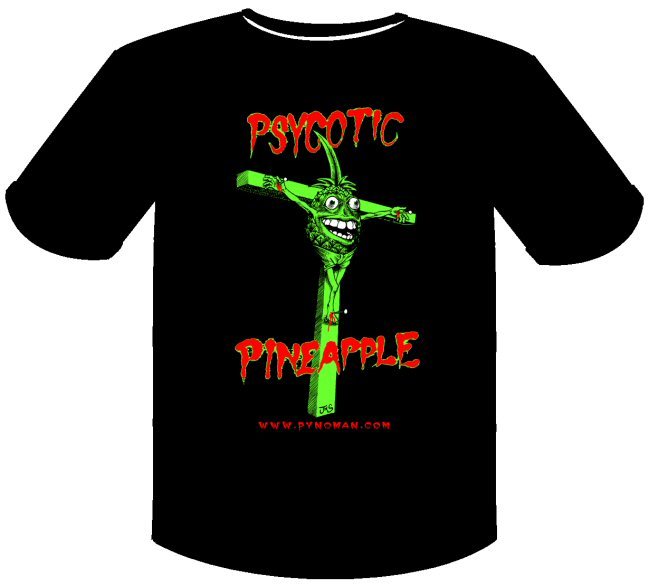 Psycotic Pineapple Pynoman Crux T-Shirt (new design)