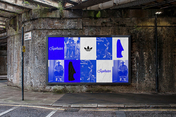 adidas superstar advertising wall
