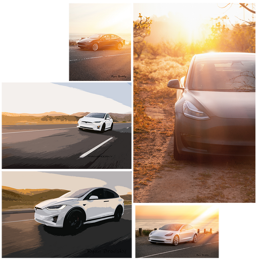 Tesla Art - Sunset Edition (5 pieces) FREE