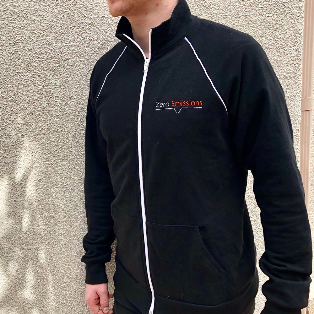 Zero Emissions Logo Piped Fleece Jacket