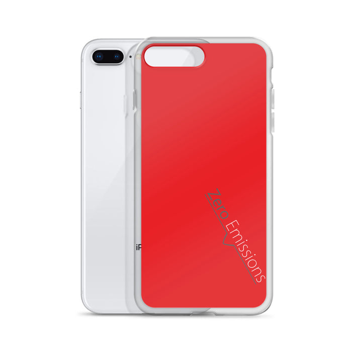 Zero Emissions Red iPhone Case