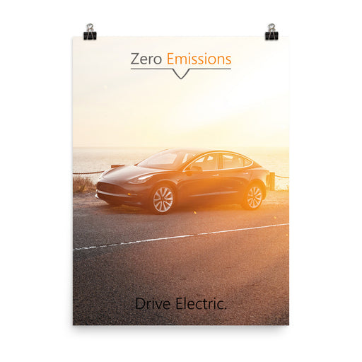 Drive Electric Poster (Model 3)