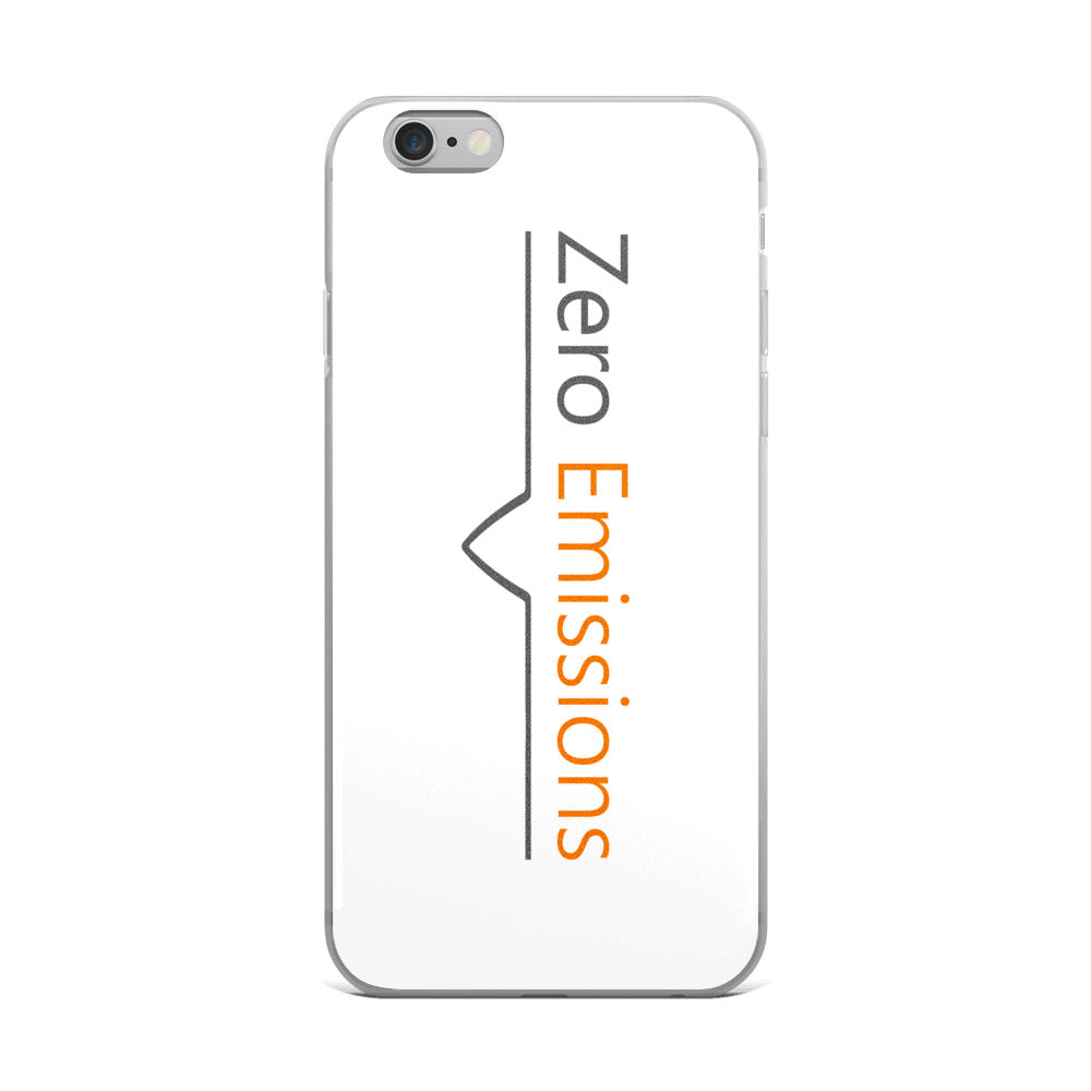 Zero Emissions Classic Logo iPhone Case White