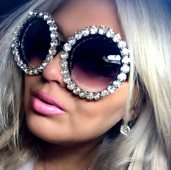ULTRA FABULOUS FULL CRYSTAL EMBELLISHED SUNGLASSES - Wild Child Shades