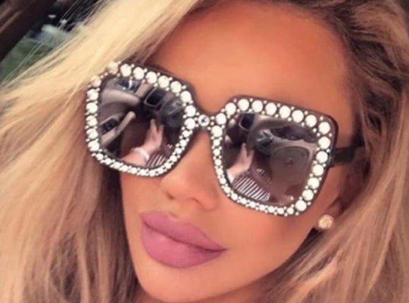 Imitation Gucci Oversize Square Crystal Sunglasses ***MORE OPTIONS*** - Wild Child Shades
