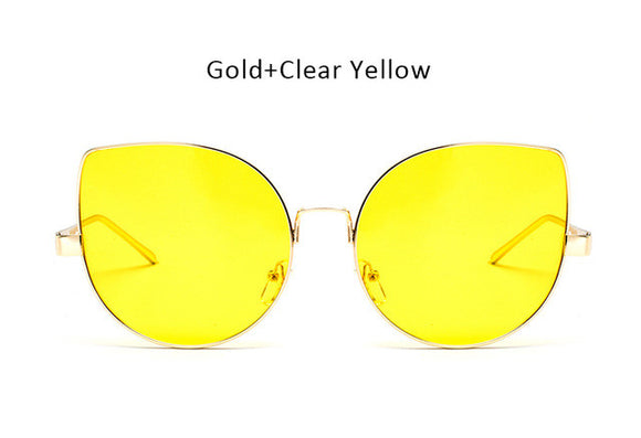 Cat Eye Sunglasses ***Yellow or Pink***