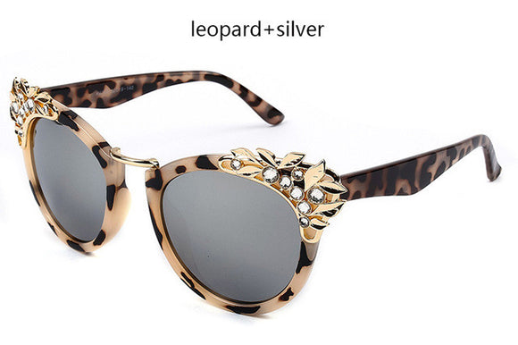 Wild Leopard Print Crystal Diamond Sunglasses ***MORE COLORS AVAILABLE***