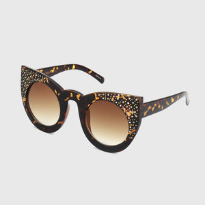 Crystal Detail Cat Eye Sunglasses ***MORE COLORS***