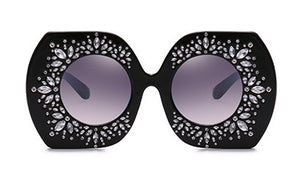 Diva Oversized Crystal Gradient Sunglasses ***MORE OPTIONS***