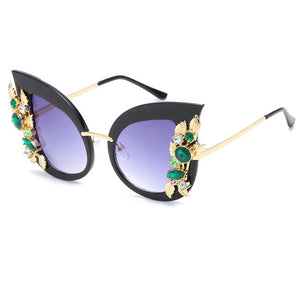 Dramatic Cat Eye Butterfly Embellished Sunglasses ***7 MORE OPTIONS***