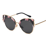 Floral Print Alloy Wrap Cat Eye Sunglasses ***MORE OPTIONS***