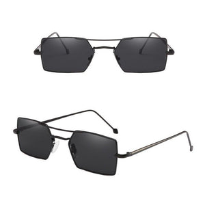 Mens Metal Frame Small UV400 Driving Rectangle Sunglasses ***MORE OPTIONS*** - Wild Child Shades