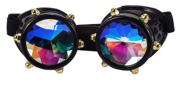 Vintage SteamPunk Glasses Kaleidoscope Goggles - Wild Child Shades