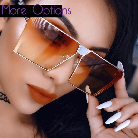 Unisex Trendy Rectangular Sunglasses ***MANY COLORS*** - Wild Child Shades