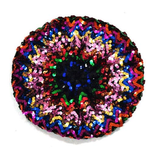 Rainbow sequin beanie hat