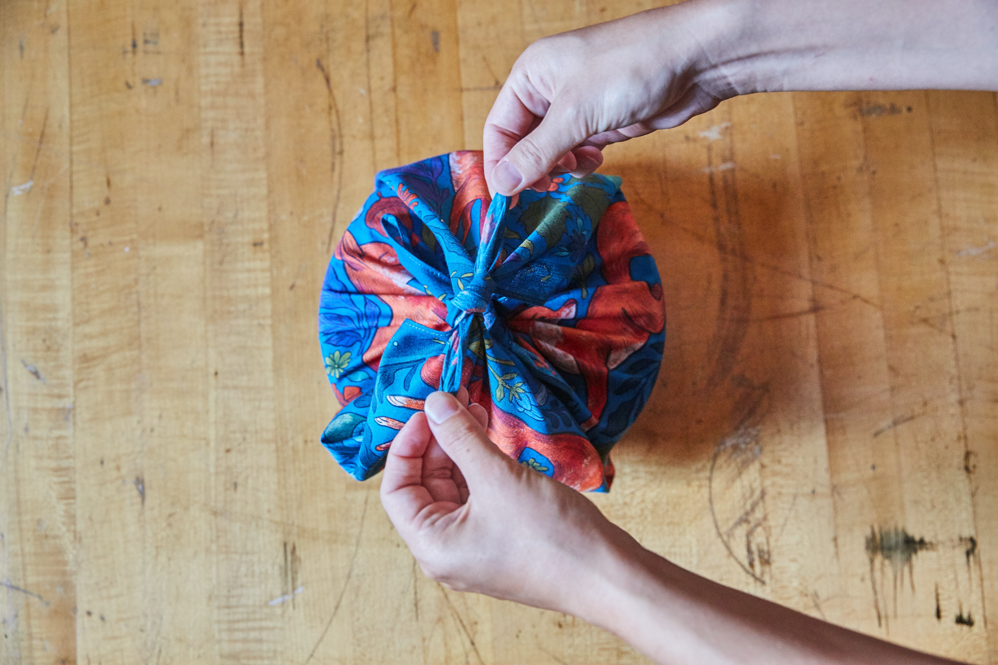 Furoshiki How to Make a Lunch Bag Tutorial