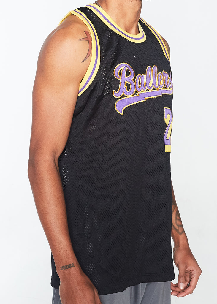 Ballers Basketball Jersey (Black)