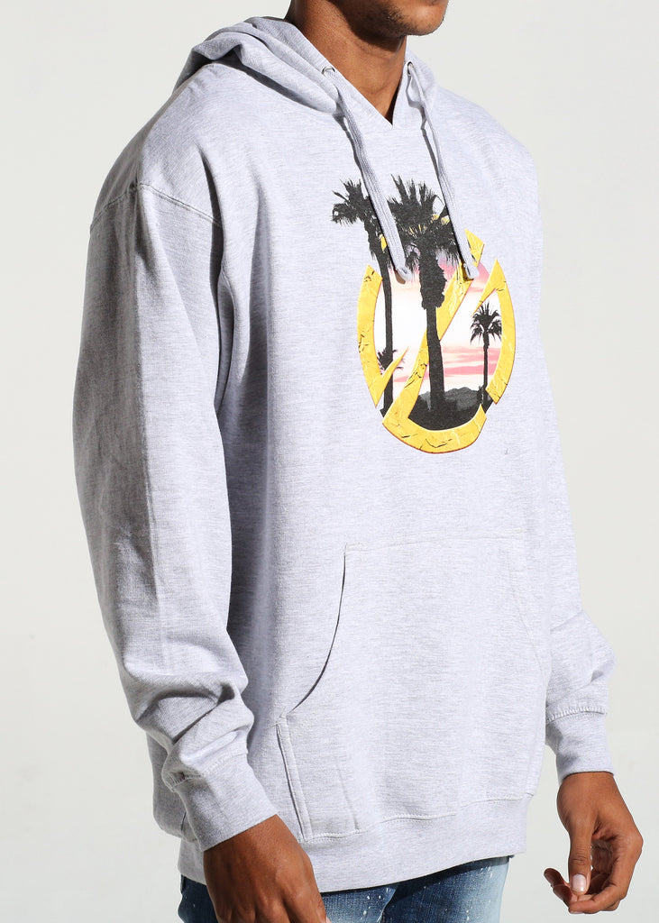 Sunset Logo Pullover Hoodie (Heather Grey)