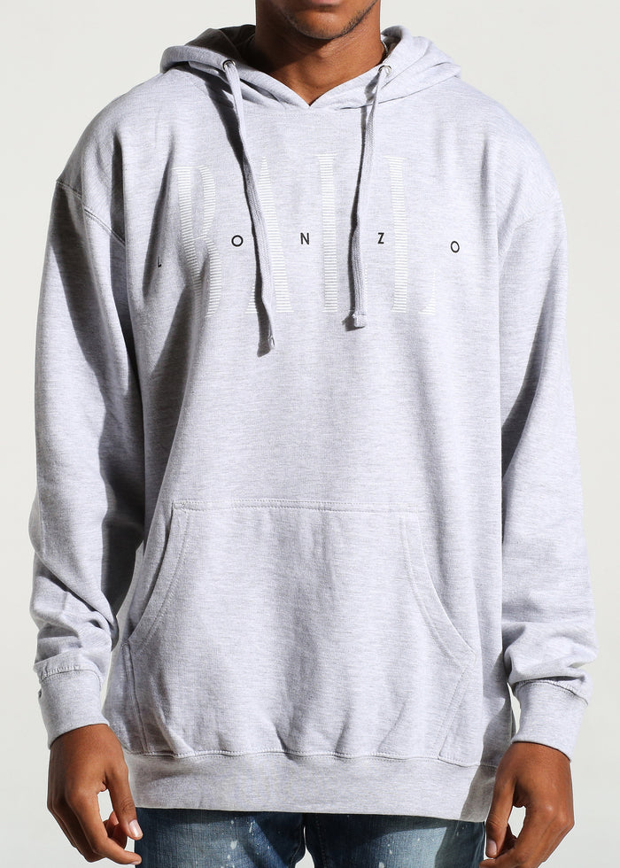 Luxe Logo Pullover Hoodie (Heather Grey)