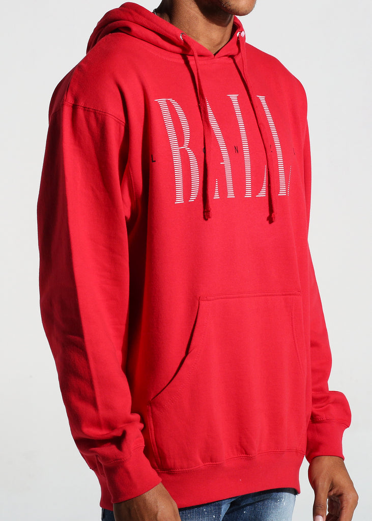Luxe Logo Pullover Hoodie (Red)