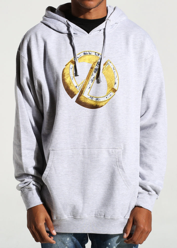 Emblem Pullover Hoodie (Heather Grey)