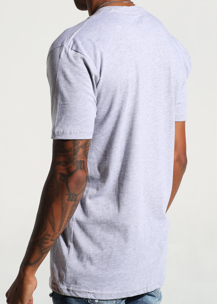 Signature S/S Tee (Heather Grey)