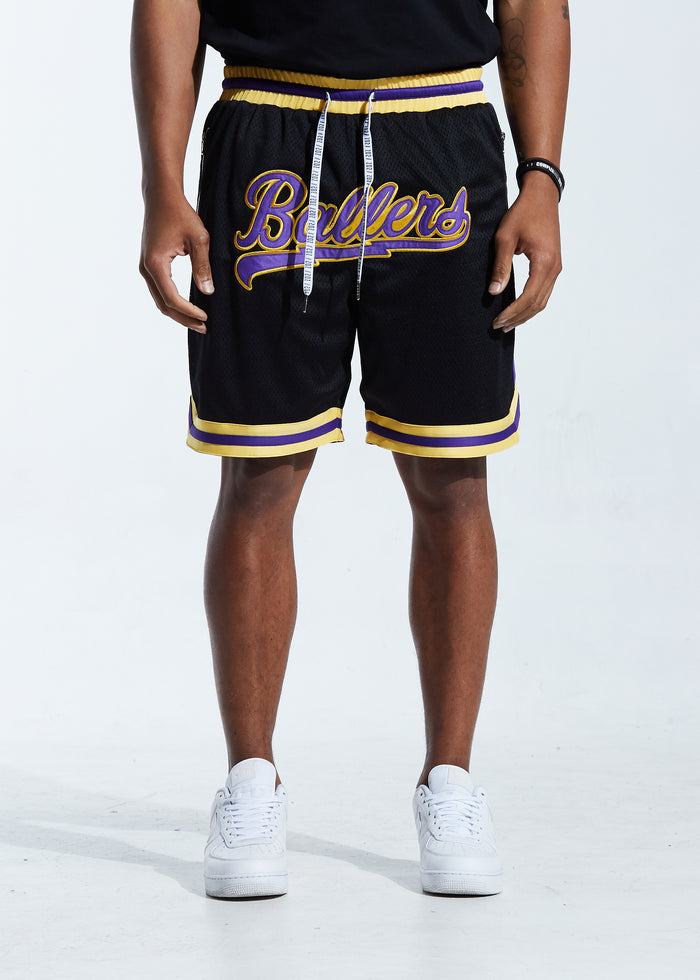 Buckets Basketball Short (Black/Purple)