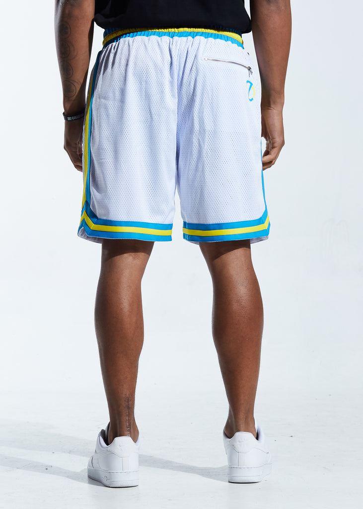 Buckets Basketball Short (White)