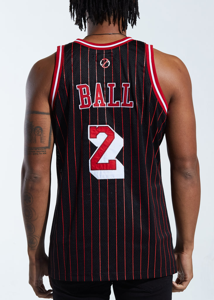 Ballers Basketball Jersey (Black/Red)