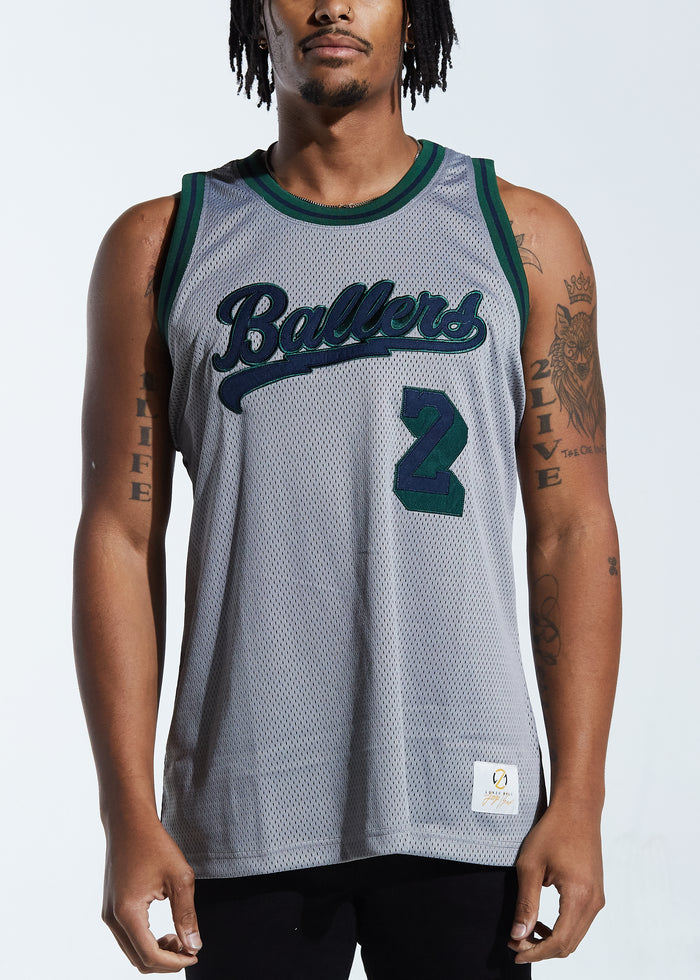 Ballers Basketball Jersey (Grey)
