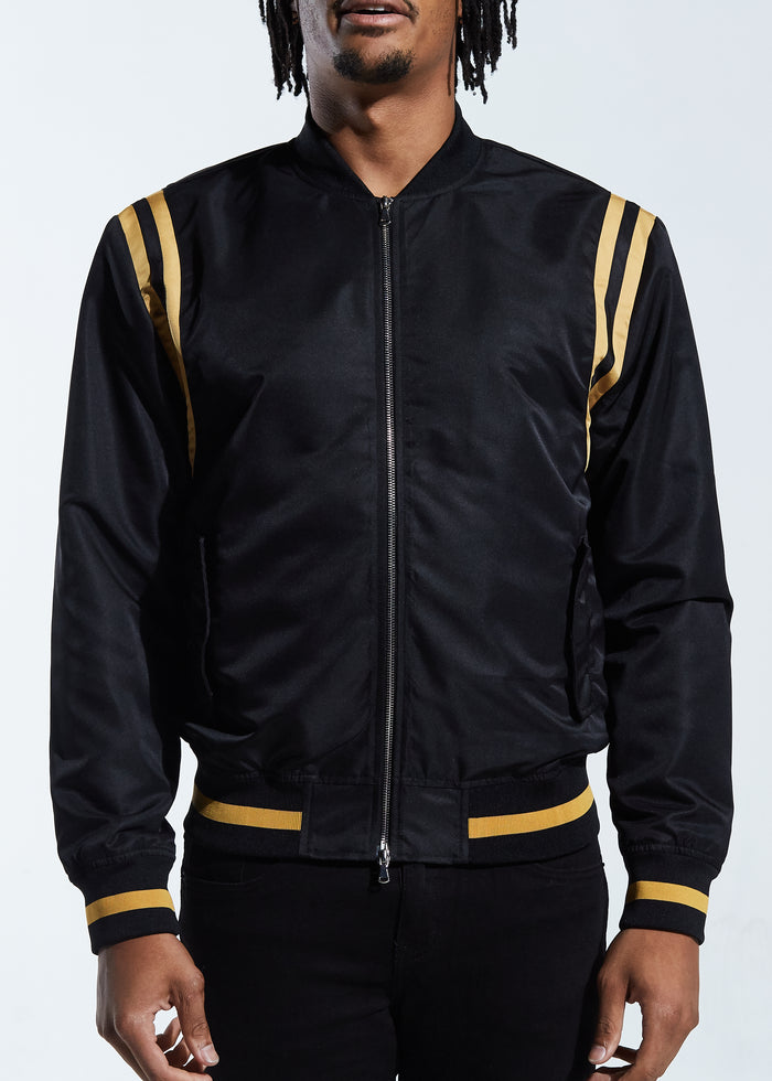 Courtside Bomber Jacket (Black)