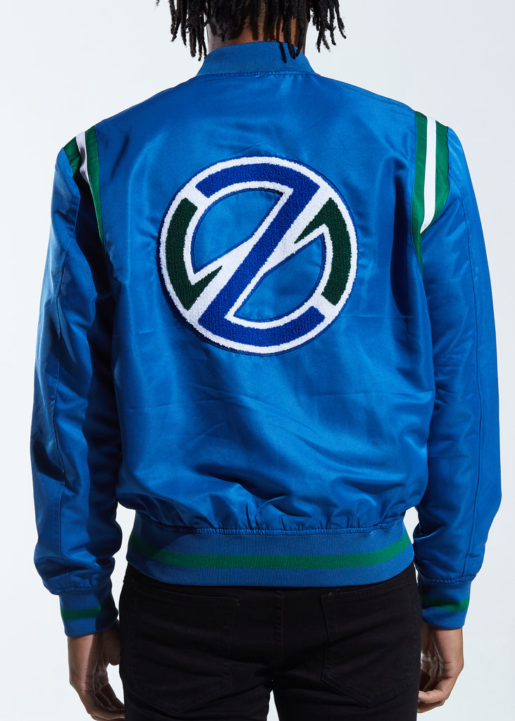 Courtside Bomber Jacket (Blue)