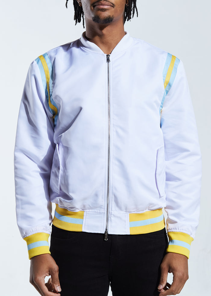 Courtside Bomber Jacket (White)