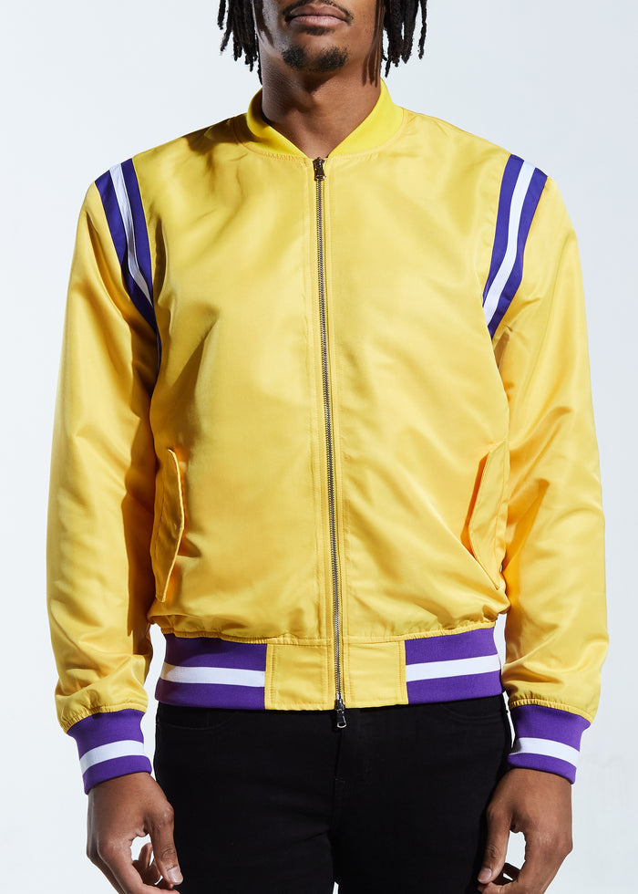 Courtside Bomber Jacket (Yellow)
