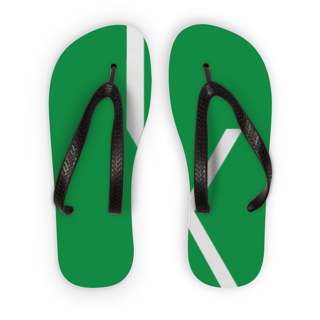 Ixchel Green Circle Logo Kids Flip Flops