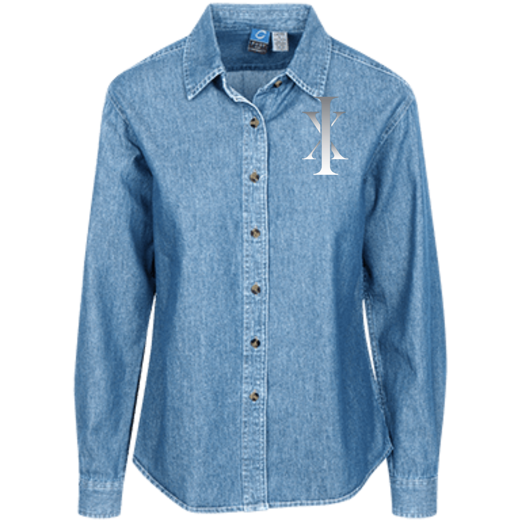 Ixchel Port Authority Women's LS Denim Shirt