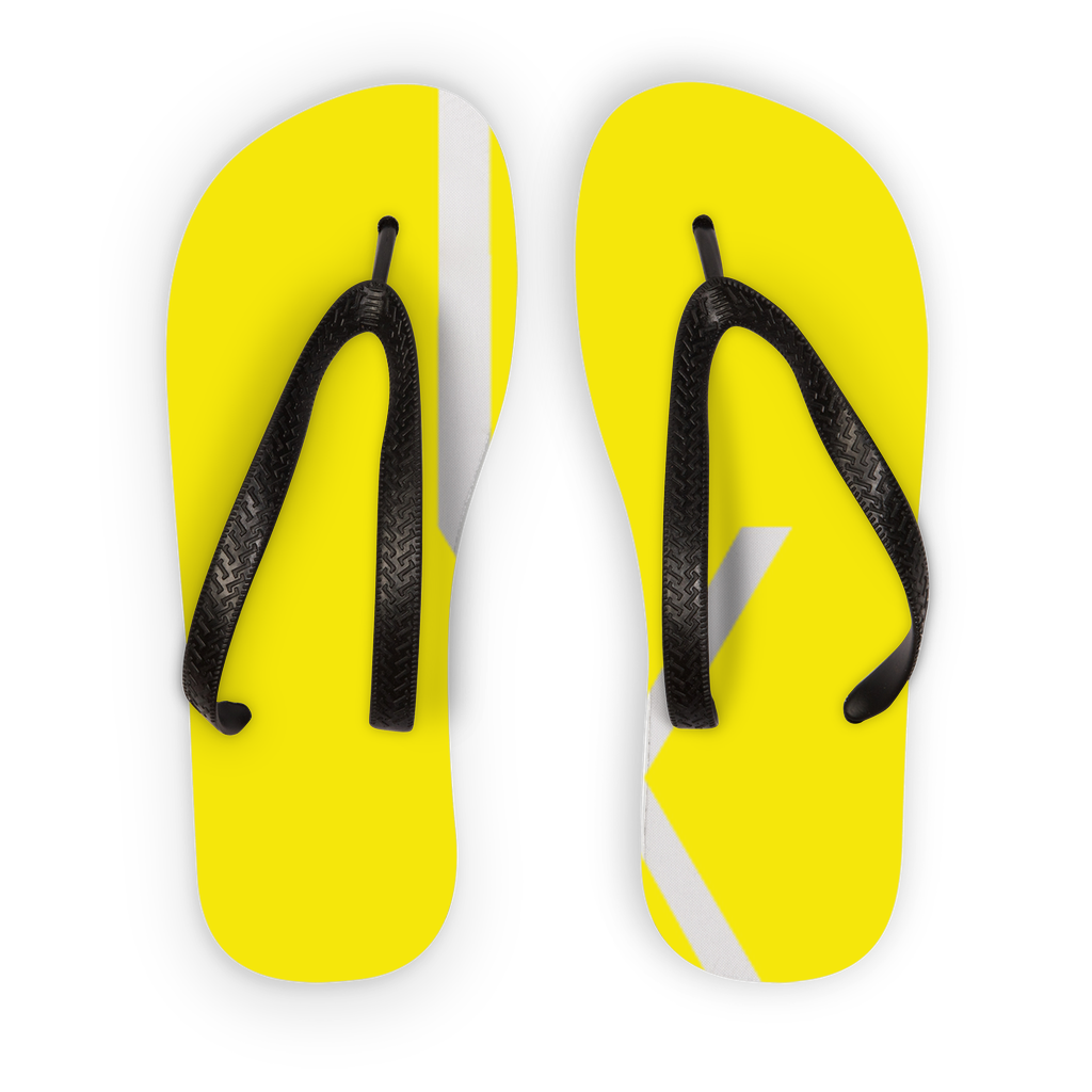 Ixchel Yellow Circle Kids Flip Flops