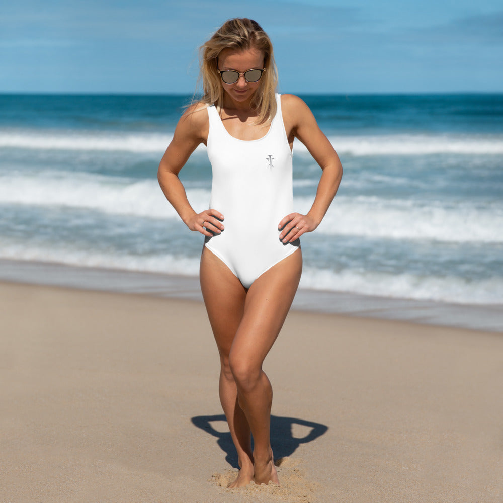 Ixchel Silver Logo One-Piece Swimsuit