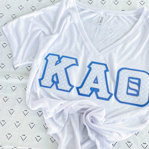White Stars Greek Letter Shirt