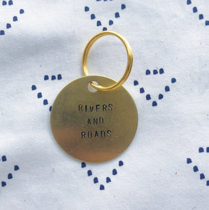 """Rivers and Roads"" Hand-Stamped Keychain"