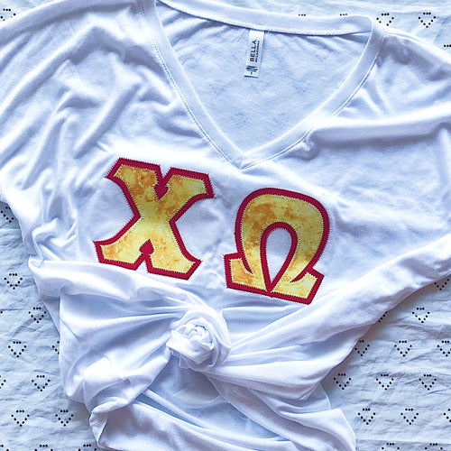 Yellow Marble Greek Letter Shirt