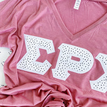 Black and White Dotted Greek Letter Shirt