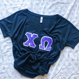 Royal Purple Marble Greek Letter Shirt