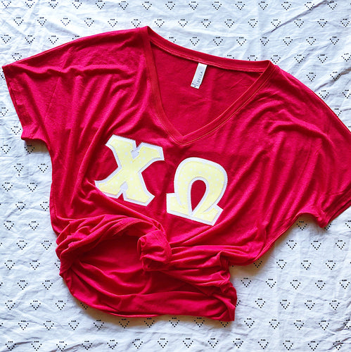 Yellow Stars Greek Letter Shirt
