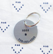 Dog Name Tag Personalized Hand-Stamped Keychain