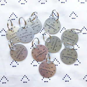 Personalize Yourself Custom Hand-Stamped Keychain