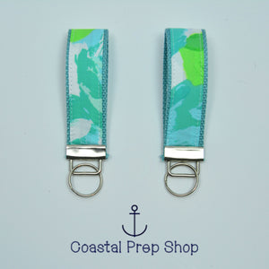 Lilly Pulitzer Blue First Impression Key Fob Wristlet