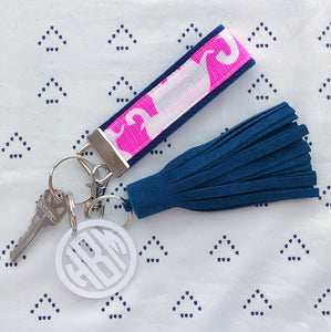 Lilly Pulitzer Tusk In Sun Key Fob Wristlet