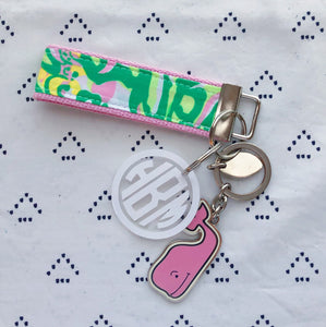 Lilly Pulitzer Seeing Pink Elephants Key Fob Wristlet