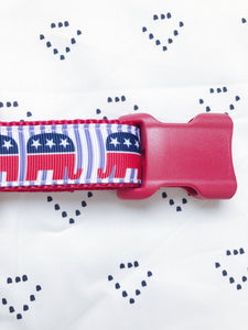 Republican Elephant Dog Collar